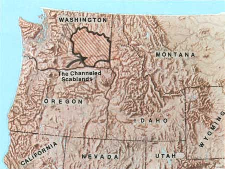 Scablands Washington Map.Usgs The Channeled Scablands Of Eastern Washington Contents