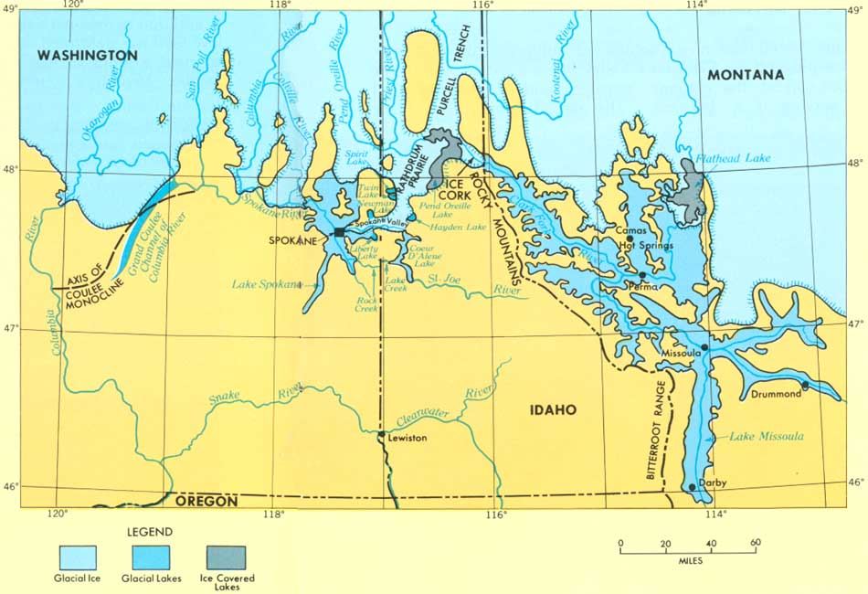 Scablands Washington Map.Usgs The Channeled Scablands Of Eastern Washington The Great Ice Age