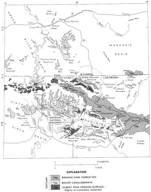Usgs Geological Survey Professional Paper 1356 Gilbert Peak