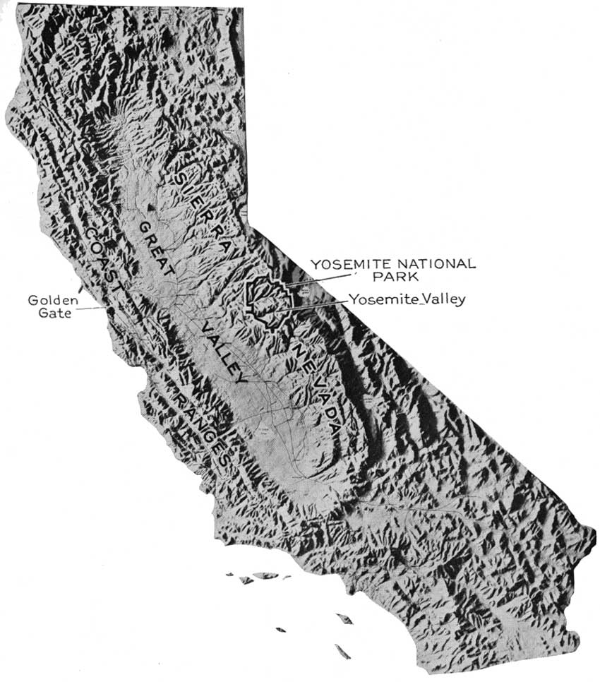 Relief Map Of California 2 Topographic Map Of Yosemite National Park Omitted From The Online Edition 3 Yosemite Valley From Wawona Road