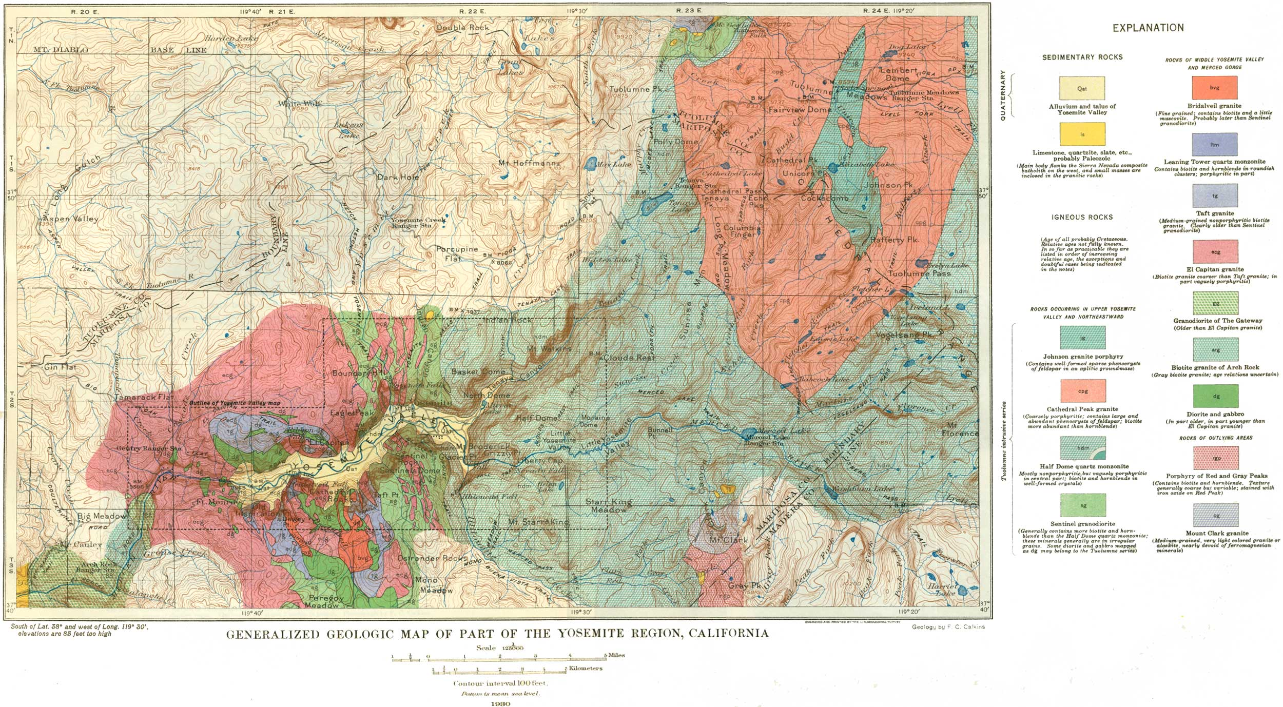 USGS Geological Survey Professional Paper The Granitic Rocks - West coast us rock age map geology