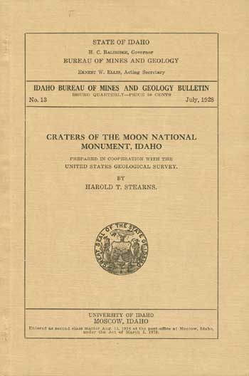Idaho bureau of mines and geology bulletin craters of the moon national monument idaho - Geological survey and mines bureau ...