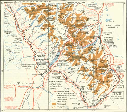 topographic map of glacier national park Glacier Np Origin Of The Scenic Features Of The Glacier National