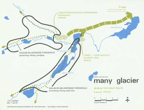 glacier national park map pdf