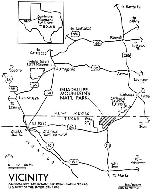 Guadalupe Mountains NP An Administrative History Table of Contents