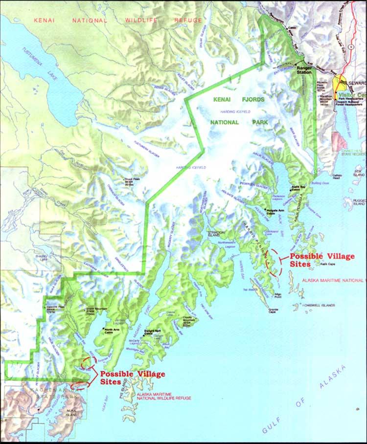 Fox Island Alaska Map.Kenai Fjords Np Historic Resource Study Table Of Contents