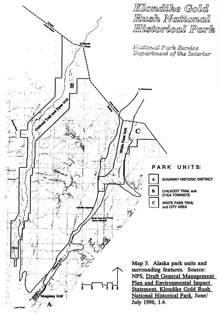 Klondike Gold Rush Map