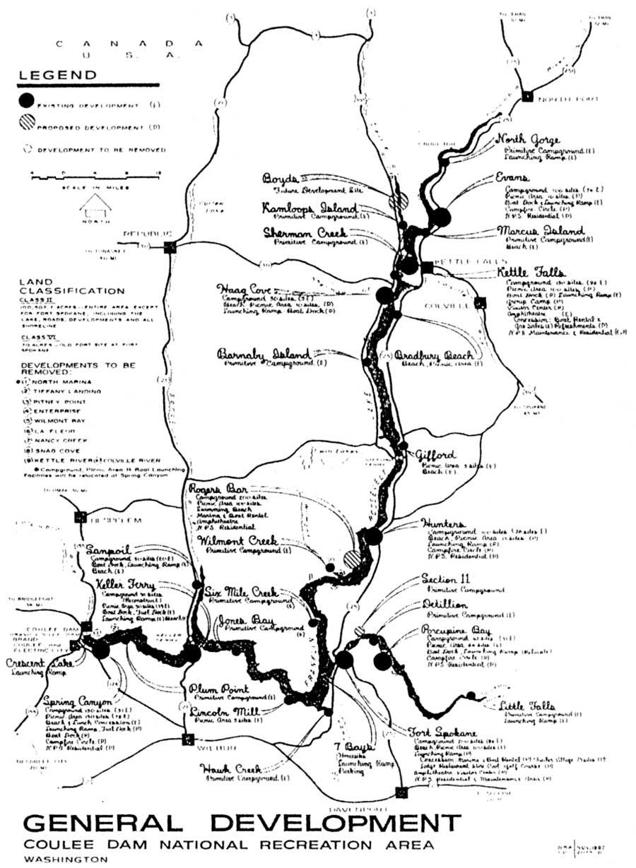 lake roosevelt washington map Lake Roosevelt Nra Administrative History Chapter 6 lake roosevelt washington map