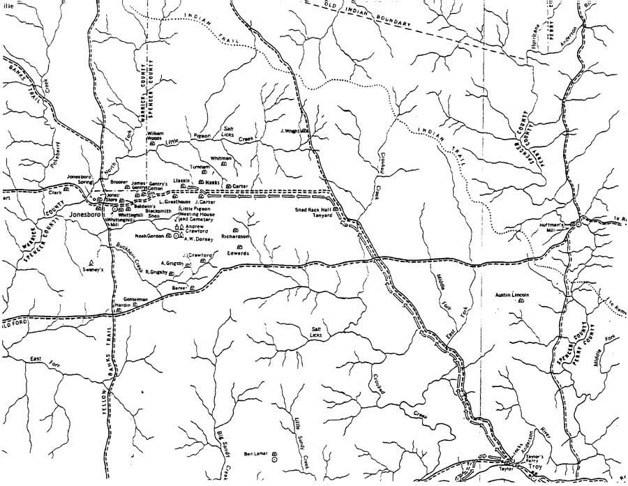 lincoln boyhood national memorial historic resource study chapter 7  map