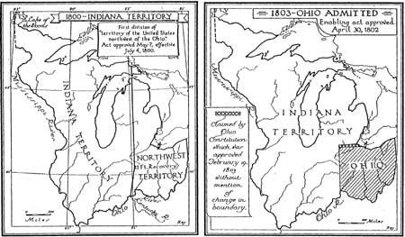 Figure 6 1800 And 1803 Maps Of Indiana Territory Buley 1950 1 62