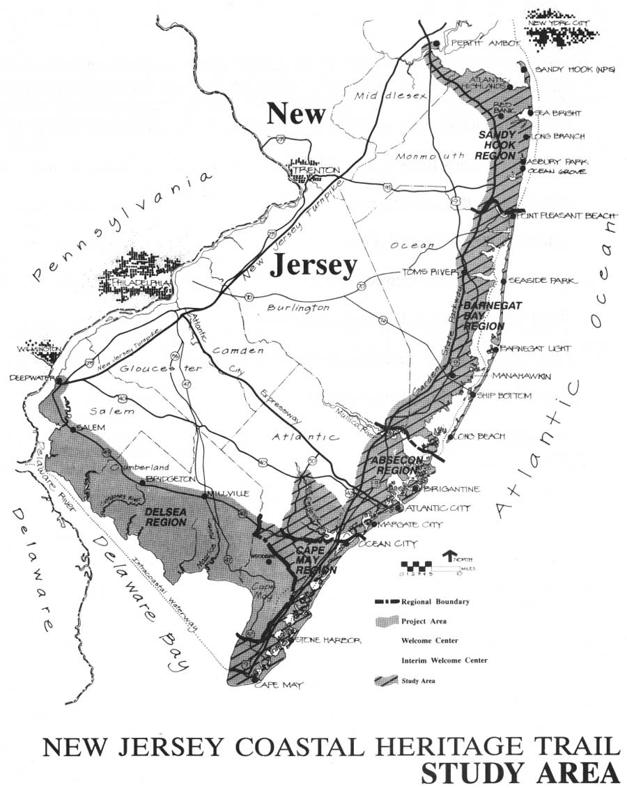 New Jersey Coastal Heritage Trail Route The Shore Region Studied In 1991 3 Provided By NPS DSC