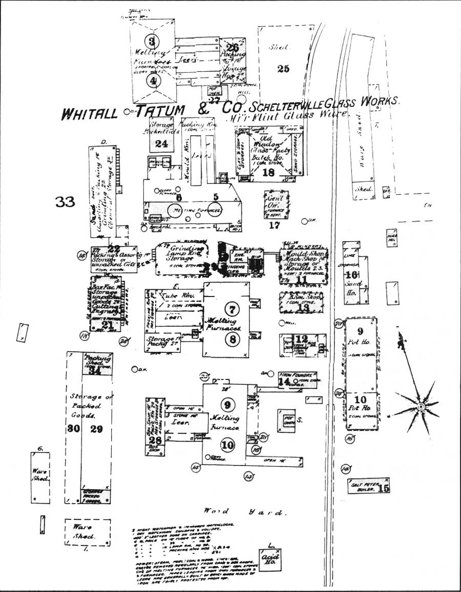 National Park Service Southern New Jersey And The Delaware Bay Rover Engine Cooling Diagram Figure 62 Whitall Tatum Company Lower Works Many Of Buildings Shown Are Today Part Foster Forbes Most Upper Is Lost Sanborn 1886