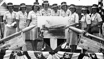 Women Marines on bond tour