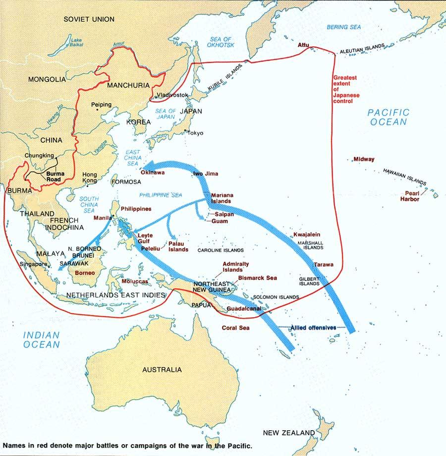 World War II Strategic Battles in the Pacific