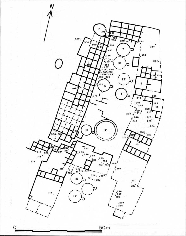 diagram of a pueblo