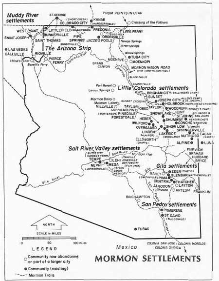 Map Of Arizona Strip.Pipe Spring Nm An Administrative History Table Of Contents