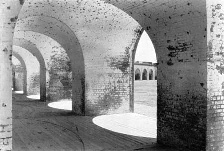 brick archways within fort