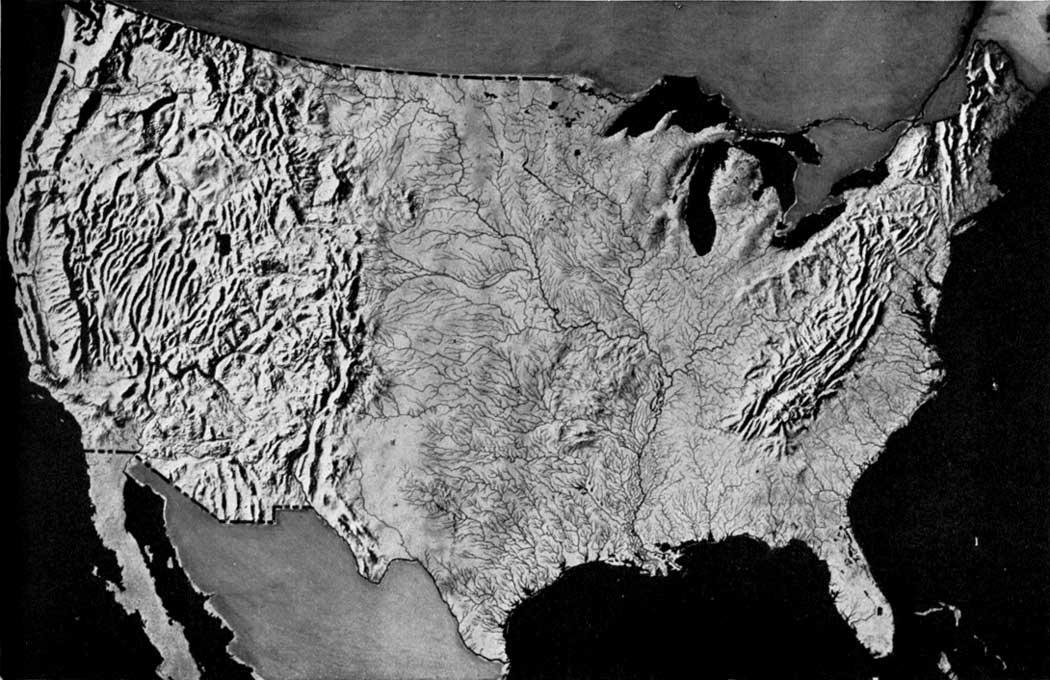 National Park Service Recreational Use Of Land In The United - Relief map us
