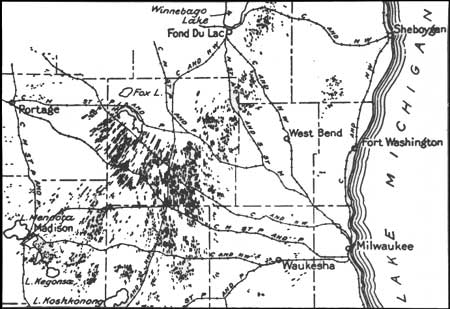 Niagara Escarpment Wisconsin Map.Geology Of Ice Age National Scientific Reserve Of Wisconsin Chapter 5
