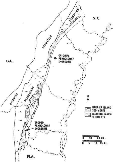 An Ecological Survey of the Coastal Region of Georgia (Table ... on map showing seven rivers georgia, salt map u s, salt map recipe, salt river map ga,