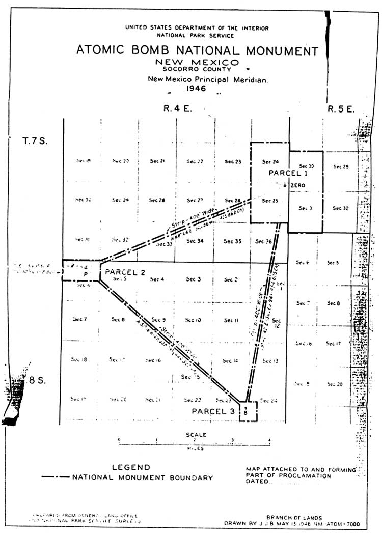 White sands nm an administrative history chapter 5 blueprint for atomic bomb national monument 1945 courtesy rocky mountain region national archives and records administration denver co malvernweather Choice Image
