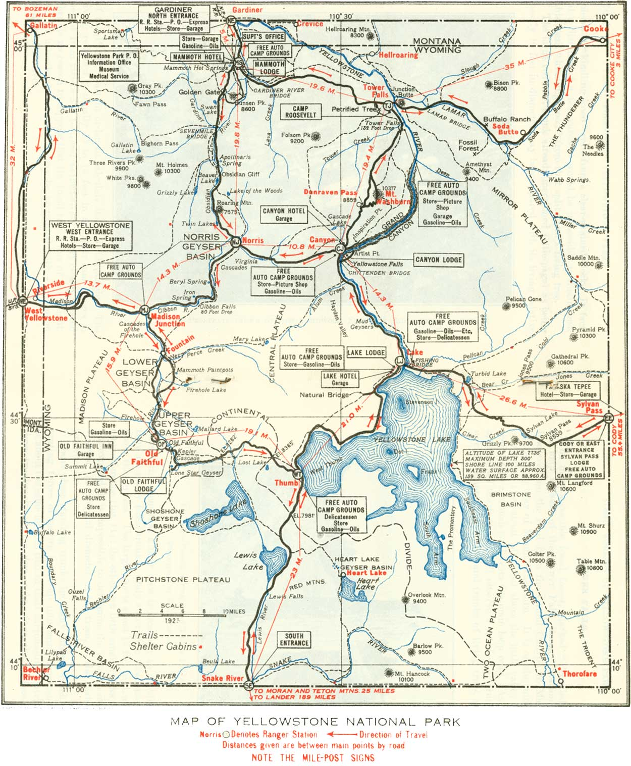 Map Usa Yellowstone .