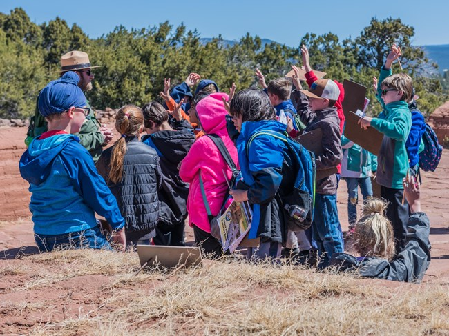 Kids participating in a ranger program