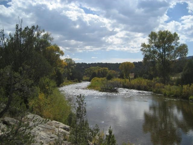 Summer view of Pecos River
