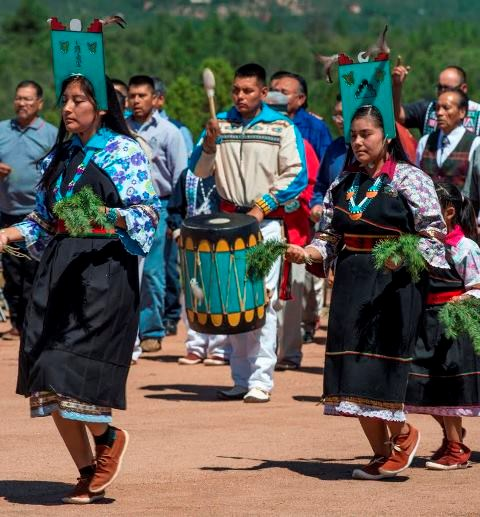 Feast Day corn dance, Jemez, August 2016