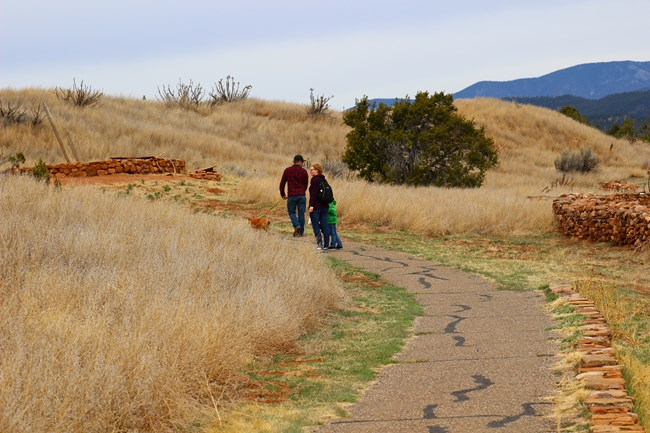 Hikers on the Ancestral Sites Trail