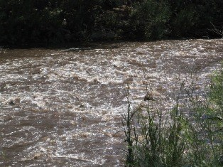 River running rough and high