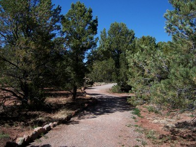 Short unpaved section of main loop trail