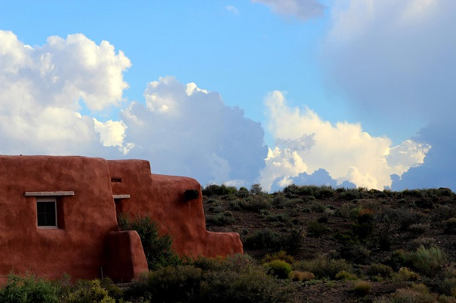 Painted Desert Inn Casita traditional Puebloan style cabin
