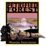 PFMA Logo includes badlands, a petrified log, and antelope in profile