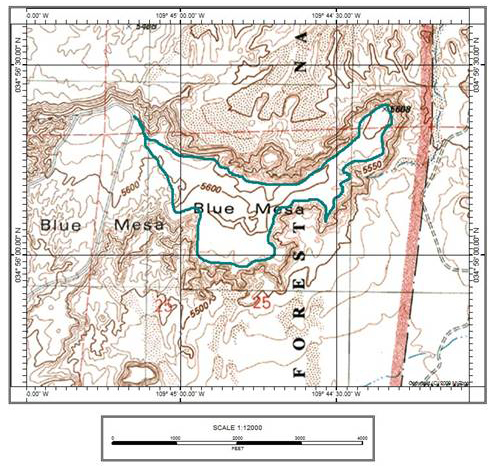 Billings Gap Overlook Map
