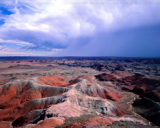 Kachina Point overlooking the Painted Desert during the monsoon.