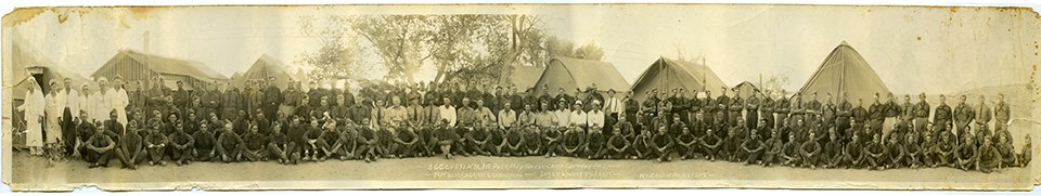 Historic photo of the Civilian Conservation Corps (CCC) Camp by the Puerco River
