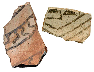 two pottery sherds