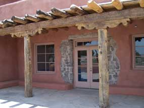 north entrance to Painted Desert Inn on back terrace