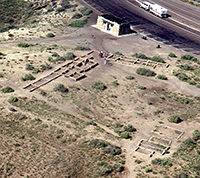 aerial view of wall alignments