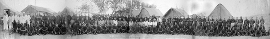 Historic panoramic image of the men at the Puerco River CCC Camp
