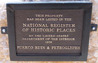 National Register of Historic Places plaque for Puerco Ruin and Petroglyphs