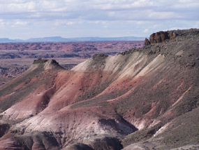 badland hills and mesa edge