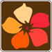 orange and red wildflower symbol