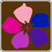 pink purple blue wildflower symbol sm