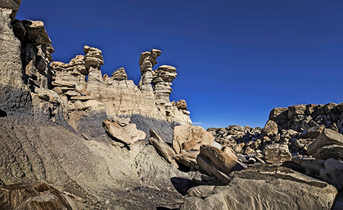 The Devil's Playground portion of Petrified Forest National Wilderness Area featuring eroded hoodoos