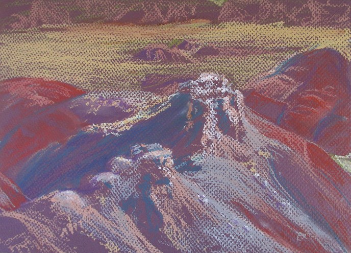 Painted Desert Inn Pastel by Nancy Haver