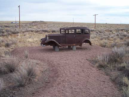 an old car along Historic Route 66