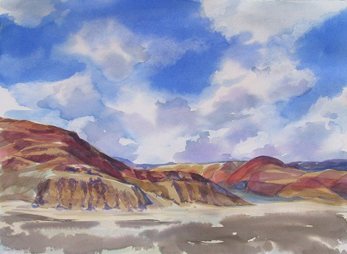 Sky Watercolor Below the Inn by Nancy Haver