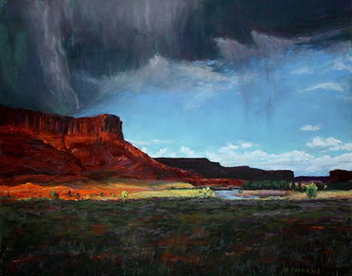 Noni Thorne's Red Butte Pastel Painting